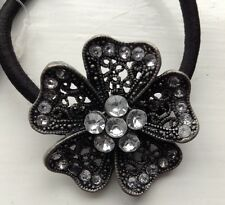 A Metal Flower & Stone Hair Band/Bobble