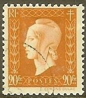 "FRANCE TIMBRE STAMP N° 700 "" MARIANNE DULAC 20F "" OBLITERE TB"