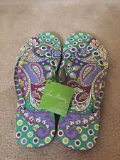 New Vera Bradley  HEATHER  Flip flop  Sandals MEDIUM Size 7-8