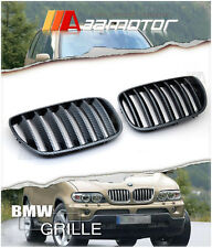 Carbon Look Front Hood Kidney Grilles for 2004-2006 BMW E53 X5 LCI 3.0I 4.4I