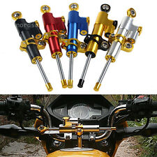 CNC Steering Damper Motorcycle Stabilizer Linear Reversed Safety Control 7Color