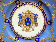 Porzellan Wappenteller FRANZÖSISCHES KÖNIGSWAPPEN, Samson, Paris, um 1890, 3
