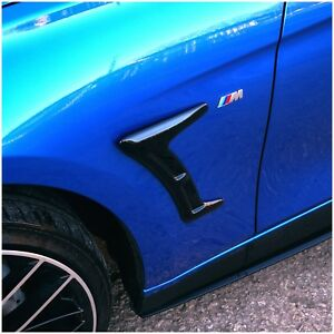 BMW Style Side Vent Decorative Universal M3 M4 style - Gloss Black ABS