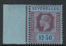 SEYCHELLES SG121 1924 1r50 PURPLE & BLUE/BLUE MTD MINT