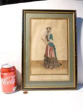 Antique Original 17thC Jean Dieu de Saint Jean Lady main couleur Gravure #4