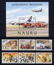 Nauru 2002 Feuerwehr Fire Fighters Fire Brigade Bomberos 536-41 + Block 35 ** MN