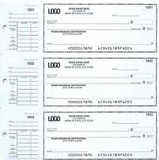 Manual checks desk checks 3 On A Page Compact Size Checks with Side-Tear Voucher