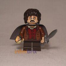 Lego Frodo Baggins (Gris Cape) de Set 9470 Shelob Ataques Lotr Hobbit lor003