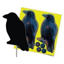 Photo-Realistic Die-Cut Corrugated Plastic Splattering Crow Targets +FREE extras