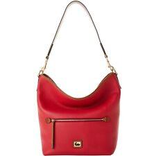 💗DOONEY & BOURKE💗Camden Pebble Leather Medium Hobo/Shoulder Bag ~ RED