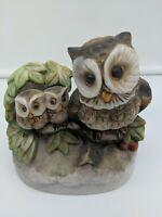 70s Owls Family Mamma Babies Birds Figurine Ceramic HOMCO Home Interior #1298