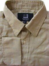 DUNHILL Camicia Da Uomo 14.5 S GOLD & Blue PIED DE POULE