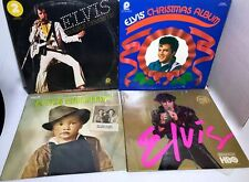 VINTAGE LOT OF 4 ELVIS PRESLEY ALBUMS, DOUBLE DYNAMITE, CHRISTMAS, COUNTRY. HBO