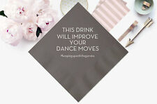 100 Personalized Napkins THIS DRINK... Wedding 3 Ply Napkins Cocktail Beverage