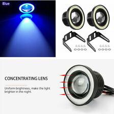 "2x 3.5"" 20W COB LED Car Fog Light Projector Blue Angel Eyes Halo Ring Headlight"