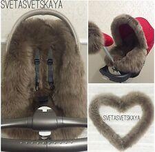 Stokke xplory, crusi, trailZ real fur sheepskin liner for custom made