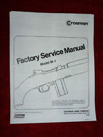 Crosman M-1  Factory Service Manual With Exploded View
