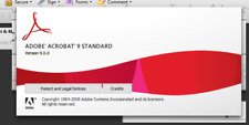 ADOBE ACROBAT 9 STANDARD FOR WINDOWS WITH INSTALL DISC AND SERIAL NUMBER
