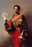 Oil franz xavier winterhalter - male portrait edouard andre standing & sword art