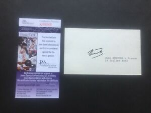 Jean Borotra Autograph Index Card 1993 Tennis Champion JSA COA James Spence