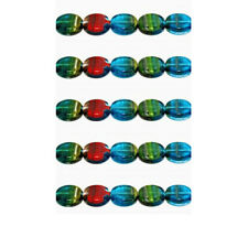 9004 Glass Beads *See Description*  Czech Disc Multi 10mm PK20 *UK  EBAY SHOP*
