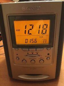 Sony Dream Machine ICF-CD863V CD player Alarm Clock TV Weather AM/FM Radio Works