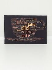 HANDMADE MINIATURE DOLLS HOUSE ACCESSORY CANVAS STYLE Picture Coffee Shop Cafe