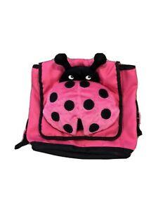 Girls Gymboree Backpack Pink Lady Bug Bag Adjustable Small Toddler