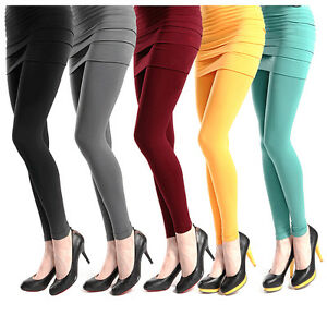 Leggings mit Minirock 2in1 einteilig one size Hose matte damenstrumpfhose