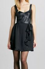 $498 Nanette Lepore Leather and Satine  Dress Size: 12