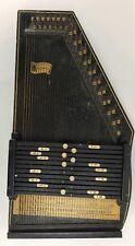 "Vintage Oscar Schmidt 36 String Black Auto harp *For Parts or Repair"" Good Bones"