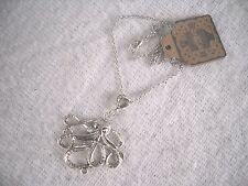 "SILVER SERPENT PENDENT ON A 24"" CHAIN NECKLACE,HAND MADE,BRAND NEW WITH TAGS."