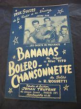 Partitur Bananen Bolero Liedchen Kadetten provence Music -blatt