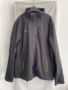 MOUNTAIN WAREHOUSE HELIX Black Super LightweightHooded Soft Shell Jacket Size XL