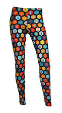 Unique Science Geometric Geeky Microscope Space Print Fashion Leggings Size 8-22