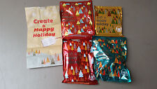 NEW Sealed Wendy's Craft a Happy Holiday 2015 Kids Meal Toys Complete Set of 4