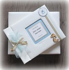 Luxury Personalised BABY BOY Photo Album/ Handmade Boxed/ Stunning gift