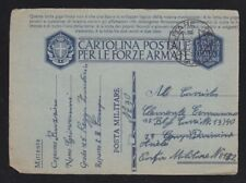 ITALY 1942 POSTAL STATIONERY CARD MILITARY POST OFFICE #30 TO MPO #132