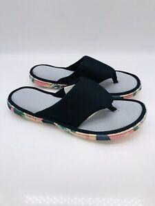 Dearfoams Women's Active Inspired Flip Flop Slippers - Black XL US 11-12   #A-64