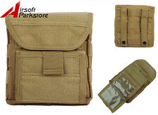 1000D Molle Belt Tactical Magazine Flashlight Map Storage Pouch Bag Airsoft Tan