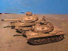 Flames of War Painted Israeli M-48 Tank HQ (2 Tanks With Commander)