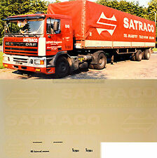 DAF Satraco Spedition Belgium (B) 1:87 Truck Decal LKW Abziehbild