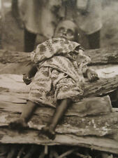 ANTIQUE POST MORTEM BURNING IN GHAT CREMATION GANGES RIVER SNAPSHOT RARE PHOTO