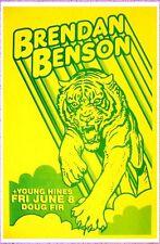 BRENDAN BENSON 2012 Gig POSTER Portland Raconteurs What Kind Of World Concert