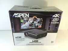 * Aspen Projection A150 LED Smart Projector 4K UHD 3D HDMI