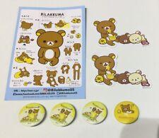 ~~~ NEW! Rilakkuma San-X Set Of Pins And Stickers