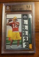 🔥Aaron RODGERS 2005 Upper Deck  ROOKIE PREMIERE BGS 9.5 GEM MINT 🔥 PACKERS CAL