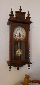 Wanduhr Pendeluhr Regulator Antik Mechanisch Mahagoni Holz Uhr