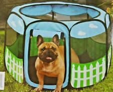 Small Pet Puppy Dog Play pen Exercise Kennel Tent Foldable Indoor Outdoor shade