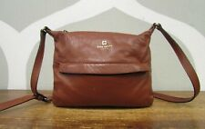 KATE SPADE $280 Grant Park Starla Brown Tumbled Leather Cross Body Bag Crossbody